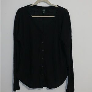 Wild Fable v neck button down waffle knit  top